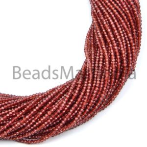 Shop Garnet Faceted Beads! Mozambique Garnet Faceted Rondelle Beads, Natural Garnet Beads, Mozambique Garnet Faceted Beads, Mozambique Garnet Rondelle Beads | Natural genuine faceted Garnet beads for beading and jewelry making.  #jewelry #beads #beadedjewelry #diyjewelry #jewelrymaking #beadstore #beading #affiliate #ad