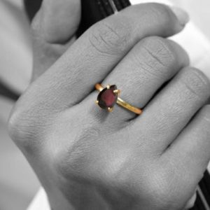 Shop Garnet Rings! January birthstone ring,red garnet ring,semiprecious ring,cocktail ring,stack ring,gold ring,solid gold ring,engagement ring | Natural genuine Garnet rings, simple unique alternative gemstone engagement rings. #rings #jewelry #bridal #wedding #jewelryaccessories #engagementrings #weddingideas #affiliate #ad
