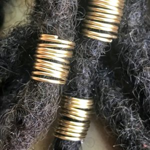 Shop Dread Beads! Gold Hair Rings, Gold Dread Cuffs, Loc Jewelry, Gold Loc Jewelry, Loc Coils, Dread Coils, Dread Cuffs, Braid Rings, Braid Cuffs, Dread Beads | Natural genuine beads Gemstone beads for beading and jewelry making.  #jewelry #beads #beadedjewelry #diyjewelry #jewelrymaking #beadstore #beading #affiliate #ad