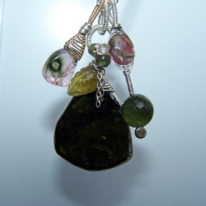 Shop Green Tourmaline Pendants! Green tourmaline, wire wrapped pendant, necklace | Natural genuine Green Tourmaline pendants. Buy crystal jewelry, handmade handcrafted artisan jewelry for women.  Unique handmade gift ideas. #jewelry #beadedpendants #beadedjewelry #gift #shopping #handmadejewelry #fashion #style #product #pendants #affiliate #ad
