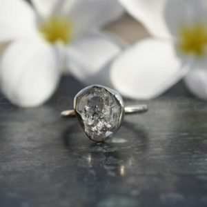 Shop Herkimer Diamond Rings! Natural Diamond, Herkimer Diamond Ring, Sterling Silver Ring, Diamond Jewelry, Real Diamond Ring, Silver Handmade Ring, Dainty Ring, Propose | Natural genuine Herkimer Diamond rings, simple unique handcrafted gemstone rings. #rings #jewelry #shopping #gift #handmade #fashion #style #affiliate #ad