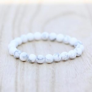 Shop Howlite Jewelry! MATTE HOWLITE Bracelet White Howlite Stone Bracelet 8mm Howlite Bracelet | Natural genuine Howlite jewelry. Buy crystal jewelry, handmade handcrafted artisan jewelry for women.  Unique handmade gift ideas. #jewelry #beadedjewelry #beadedjewelry #gift #shopping #handmadejewelry #fashion #style #product #jewelry #affiliate #ad