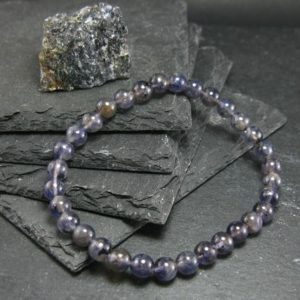 Shop Iolite Jewelry! Iolite Cordierite Genuine Bracelet ~ 7 Inches ~ 6mm Round Beads | Natural genuine Iolite jewelry. Buy crystal jewelry, handmade handcrafted artisan jewelry for women.  Unique handmade gift ideas. #jewelry #beadedjewelry #beadedjewelry #gift #shopping #handmadejewelry #fashion #style #product #jewelry #affiliate #ad