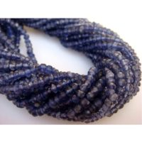 3-3.5mm Iolite Faceted Rondelle Beads, Blue Iolite Faceted Beads, Iolite Faceted Rondelle For Necklace (1st To 5st Options) – Gsa42 | Natural genuine Gemstone jewelry. Buy crystal jewelry, handmade handcrafted artisan jewelry for women.  Unique handmade gift ideas. #jewelry #beadedjewelry #beadedjewelry #gift #shopping #handmadejewelry #fashion #style #product #jewelry #affiliate #ad