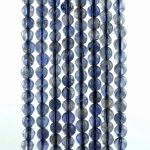 Shop Iolite Round Beads! 3mm Bermudan Blue Iolite Gemstone Grade AAA Round Loose Beads 16 inch Full Strand (90186109-832) | Natural genuine round Iolite beads for beading and jewelry making.  #jewelry #beads #beadedjewelry #diyjewelry #jewelrymaking #beadstore #beading #affiliate #ad