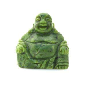 Shop Jade Shapes! Nephrite jade laughing buddha, 3'' carved and polished high grade, nice carving, crystal buddha | Natural genuine stones & crystals in various shapes & sizes. Buy raw cut, tumbled, or polished gemstones for making jewelry or crystal healing energy vibration raising reiki stones. #crystals #gemstones #crystalhealing #crystalsandgemstones #energyhealing #affiliate #ad
