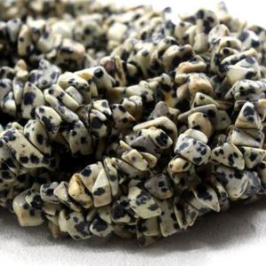 "Shop Jasper Chip & Nugget Beads! 16"" Long Natural Dalmation Jasper Gemstone Smooth Uncut Chips Shape Center Drilled Beads Size 6-8 MM Jewelry Making Wholesale Price 