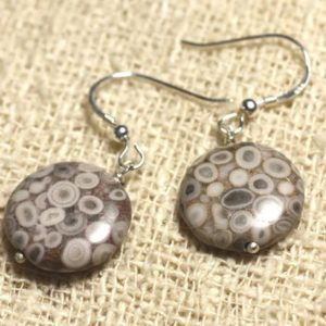 Shop Jasper Earrings! Jasper earrings 925 Silver – Ocean beads 16mm | Natural genuine Jasper earrings. Buy crystal jewelry, handmade handcrafted artisan jewelry for women.  Unique handmade gift ideas. #jewelry #beadedearrings #beadedjewelry #gift #shopping #handmadejewelry #fashion #style #product #earrings #affiliate #ad