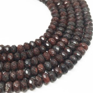 Shop Jasper Faceted Beads! 8x5mm Faceted Brecciated Jasper Rondelle Beads, Gemstone Beads, Wholesale Beads | Natural genuine faceted Jasper beads for beading and jewelry making.  #jewelry #beads #beadedjewelry #diyjewelry #jewelrymaking #beadstore #beading #affiliate #ad