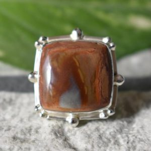 Shop Jasper Rings! 925 silver polychrome jasper ring-natural polychrome jasper ring-natural jasper ring-jasper ring-natural polychrome-jasper ring-jasper ring | Natural genuine Jasper rings, simple unique handcrafted gemstone rings. #rings #jewelry #shopping #gift #handmade #fashion #style #affiliate #ad