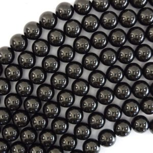 """Shop Jet Beads! Natural Genuine Black Jet Round Beads 15.5"""" Strand 4mm 6mm 8mm 10mm 12mm   Natural genuine round Jet beads for beading and jewelry making.  #jewelry #beads #beadedjewelry #diyjewelry #jewelrymaking #beadstore #beading #affiliate #ad"""