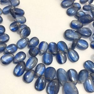 Shop Kyanite Bead Shapes! 75 Cts Natural Kyanite Plain Smooth Pears Beads, 4x5mm to 7x11mm, 8 inches, Blue Beads, Gemstone Beads, Semiprecious Stone Beads | Natural genuine other-shape Kyanite beads for beading and jewelry making.  #jewelry #beads #beadedjewelry #diyjewelry #jewelrymaking #beadstore #beading #affiliate #ad