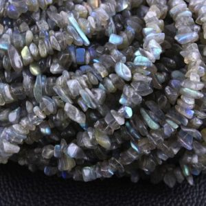 "Shop Labradorite Chip & Nugget Beads! 16"" Natural Labradorite Chips, Labradorite Beads, Uncut Beads,5-8 MM Beads,Polished Smooth Beads,making Jewelry, Labradorite Stone,Wholesale 