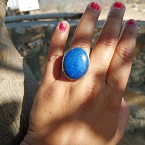 Shop Lapis Lazuli Rings! lapis ring,Natural Lapis Ring,cocktail ring,statement ring,Lapis Lazuli ring, handmade ring, 92.5% sterling silver ring, boho ring,gift HER | Natural genuine Lapis Lazuli rings, simple unique handcrafted gemstone rings. #rings #jewelry #shopping #gift #handmade #fashion #style #affiliate #ad