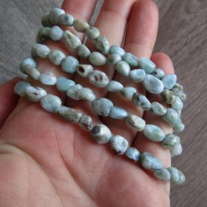 Shop Larimar Bracelets! Larimar Stretchy String Oval Bracelet G49 | Natural genuine Larimar bracelets. Buy crystal jewelry, handmade handcrafted artisan jewelry for women.  Unique handmade gift ideas. #jewelry #beadedbracelets #beadedjewelry #gift #shopping #handmadejewelry #fashion #style #product #bracelets #affiliate #ad