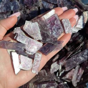 Shop Raw & Rough Lepidolite Stones! AAA Lepidolite Shards, Raw Crystal Book Sheets for Decor or Crystal Grids | Natural genuine stones & crystals in various shapes & sizes. Buy raw cut, tumbled, or polished gemstones for making jewelry or crystal healing energy vibration raising reiki stones. #crystals #gemstones #crystalhealing #crystalsandgemstones #energyhealing #affiliate #ad