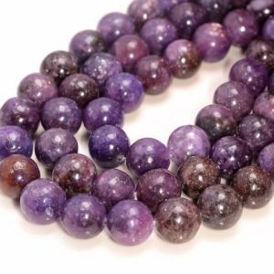10mm Mauve Lepidolite Gemston,e Grade AA Purple Round 10mm Loose Beads 7.5 inch Half Strand (90146444-161) | Natural genuine beads Gemstone beads for beading and jewelry making.  #jewelry #beads #beadedjewelry #diyjewelry #jewelrymaking #beadstore #beading #affiliate #ad