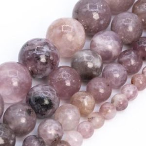 Purple Pink Lepidolite Beads Genuine Natural Grade A Gemstone Round Loose Beads 4mm 6mm 8mm 10mm Bulk Lot Options | Natural genuine round Lepidolite beads for beading and jewelry making.  #jewelry #beads #beadedjewelry #diyjewelry #jewelrymaking #beadstore #beading #affiliate #ad