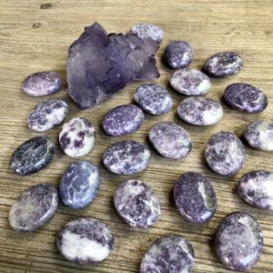 Shop Lepidolite Shapes! Lepidolite mini palm stones/pillows WS7666 | Natural genuine stones & crystals in various shapes & sizes. Buy raw cut, tumbled, or polished gemstones for making jewelry or crystal healing energy vibration raising reiki stones. #crystals #gemstones #crystalhealing #crystalsandgemstones #energyhealing #affiliate #ad