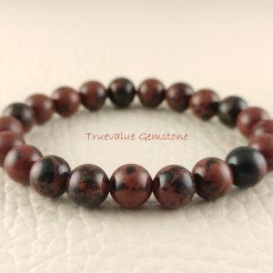 Shop Mahogany Obsidian Jewelry! Mahogany Obsidian Bracelet, Healing for Men & Women, Metamorphoses, Calming, Manifestation, Psychic Ability, Gift for Men And Women 3294 | Natural genuine Mahogany Obsidian jewelry. Buy handcrafted artisan men's jewelry, gifts for men.  Unique handmade mens fashion accessories. #jewelry #beadedjewelry #beadedjewelry #shopping #gift #handmadejewelry #jewelry #affiliate #ad