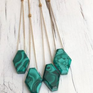 Shop Malachite Necklaces! Malachite Necklace Malachite Jewelry Gemstone Necklace Semi Raw Malachite Necklace | Natural genuine Malachite necklaces. Buy crystal jewelry, handmade handcrafted artisan jewelry for women.  Unique handmade gift ideas. #jewelry #beadednecklaces #beadedjewelry #gift #shopping #handmadejewelry #fashion #style #product #necklaces #affiliate #ad
