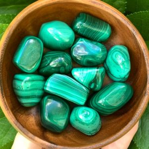 Shop Tumbled Malachite Crystals & Pocket Stones! RARE Malachite Tumbled Stone – Malachite Stone – Pocket Stone – Healing Crystals – Healing Stones – Heart Chakra – Home Decor – Sacred Space | Natural genuine stones & crystals in various shapes & sizes. Buy raw cut, tumbled, or polished gemstones for making jewelry or crystal healing energy vibration raising reiki stones. #crystals #gemstones #crystalhealing #crystalsandgemstones #energyhealing #affiliate #ad