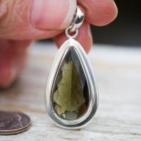Moldavite Pendant Large Faceted Moldavite Pendant – Genuine Moldavite Pendant – Czech Moldavite Pendant – Natural Moldavite – Faceted | Natural genuine Gemstone jewelry. Buy crystal jewelry, handmade handcrafted artisan jewelry for women.  Unique handmade gift ideas. #jewelry #beadedjewelry #beadedjewelry #gift #shopping #handmadejewelry #fashion #style #product #jewelry #affiliate #ad