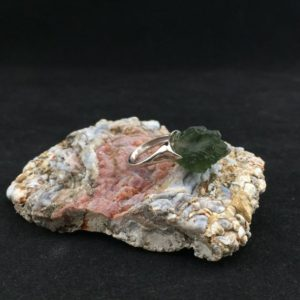 Shop Moldavite Rings! The Opava Moldavite Ring (1-34)   Natural genuine Moldavite rings, simple unique handcrafted gemstone rings. #rings #jewelry #shopping #gift #handmade #fashion #style #affiliate #ad