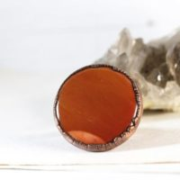 Mookaite Ring – Size 7 – Mookaite Jasper Cabochon – Red Stone – Natural Stone Ring | Natural genuine Gemstone jewelry. Buy crystal jewelry, handmade handcrafted artisan jewelry for women.  Unique handmade gift ideas. #jewelry #beadedjewelry #beadedjewelry #gift #shopping #handmadejewelry #fashion #style #product #jewelry #affiliate #ad