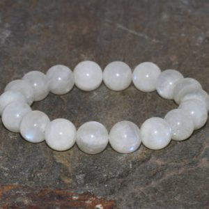 Shop Moonstone Bracelets! Natural Moonstone Bracelet Handmade 10mm Grade AA White Moonstone Gemstone Beaded Bracelet Stacking Bracelet Unisex Bracelet Gift for Her | Natural genuine Moonstone bracelets. Buy crystal jewelry, handmade handcrafted artisan jewelry for women.  Unique handmade gift ideas. #jewelry #beadedbracelets #beadedjewelry #gift #shopping #handmadejewelry #fashion #style #product #bracelets #affiliate #ad