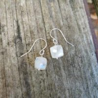 Simple Moonstone Earrings. Silver, Gold, And Rose Gold Available | Natural genuine Gemstone jewelry. Buy crystal jewelry, handmade handcrafted artisan jewelry for women.  Unique handmade gift ideas. #jewelry #beadedjewelry #beadedjewelry #gift #shopping #handmadejewelry #fashion #style #product #jewelry #affiliate #ad
