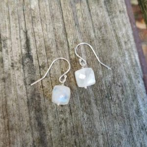 Shop Moonstone Earrings! Simple moonstone earrings.  Silver, gold, and rose gold available   Natural genuine Moonstone earrings. Buy crystal jewelry, handmade handcrafted artisan jewelry for women.  Unique handmade gift ideas. #jewelry #beadedearrings #beadedjewelry #gift #shopping #handmadejewelry #fashion #style #product #earrings #affiliate #ad