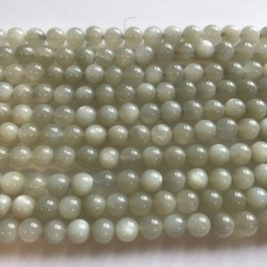 Shop Moonstone Round Beads! Natural moonstone 6mm Round Gemstone Beads—15.5 inch strand | Natural genuine round Moonstone beads for beading and jewelry making.  #jewelry #beads #beadedjewelry #diyjewelry #jewelrymaking #beadstore #beading #affiliate #ad