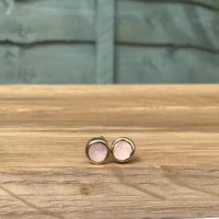 Morganite Studs, Raw Stone Gold Stud Earrings, Raw Gemstone Jewellery, Raw Stone Studs, Raw Morganite Silver Earrings | Natural genuine Gemstone jewelry. Buy crystal jewelry, handmade handcrafted artisan jewelry for women.  Unique handmade gift ideas. #jewelry #beadedjewelry #beadedjewelry #gift #shopping #handmadejewelry #fashion #style #product #jewelry #affiliate #ad