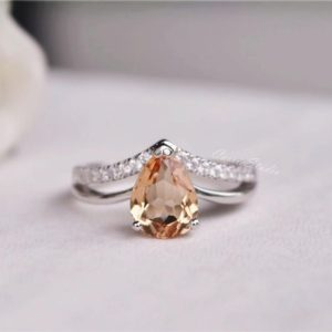 Natural Morganite Ring  Morganite Engagement Ring  Wedding Ring Anniversary Ring Promise Ring | Natural genuine Array rings, simple unique alternative gemstone engagement rings. #rings #jewelry #bridal #wedding #jewelryaccessories #engagementrings #weddingideas #affiliate #ad