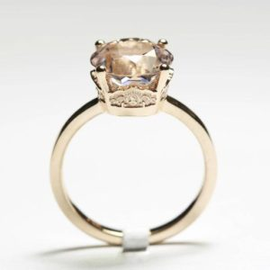 Unique Engagement Ring, Morganite Engagement Ring, Rose Gold Engagement Ring, Unique Ring, Morganite Ring, Engagement Ring, Engagement Rings | Natural genuine Array rings, simple unique alternative gemstone engagement rings. #rings #jewelry #bridal #wedding #jewelryaccessories #engagementrings #weddingideas #affiliate #ad