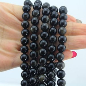 Shop Obsidian Round Beads! Grade AAA 8mm Natural golden/ Black Obsidian Beads, Smooth Round Gemstone Beads,Loose stone beads, Jewelry making Supplies – -NC150   Natural genuine round Obsidian beads for beading and jewelry making.  #jewelry #beads #beadedjewelry #diyjewelry #jewelrymaking #beadstore #beading #affiliate #ad