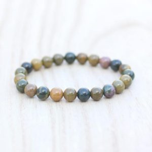 Shop Ocean Jasper Bracelets! Ocean Jasper Bracelet 8mm Jasper Bracelet Yoga Bracelet Eczema Bracelet Detoxifying Bracelet Root Chakra Bracelet Grounding Bracelet | Natural genuine Ocean Jasper bracelets. Buy crystal jewelry, handmade handcrafted artisan jewelry for women.  Unique handmade gift ideas. #jewelry #beadedbracelets #beadedjewelry #gift #shopping #handmadejewelry #fashion #style #product #bracelets #affiliate #ad