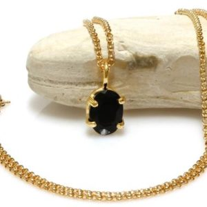 Black onyx necklace,prong pendant,gold pendant necklace,solid gold necklace,gold filled necklace,oval pendant | Natural genuine Array jewelry. Buy crystal jewelry, handmade handcrafted artisan jewelry for women.  Unique handmade gift ideas. #jewelry #beadedjewelry #beadedjewelry #gift #shopping #handmadejewelry #fashion #style #product #jewelry #affiliate #ad