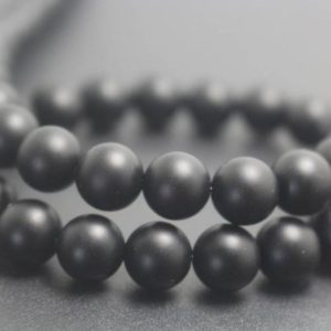 Shop Onyx Round Beads! Natural Matte Black Onyx Beads, 4mm / 6mm / 8mm / 10mm / 12mm Natural Smooth And Round Beads, 15 Inches One Starand | Natural genuine round Onyx beads for beading and jewelry making.  #jewelry #beads #beadedjewelry #diyjewelry #jewelrymaking #beadstore #beading #affiliate #ad