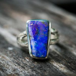 Shop Opal Rings! Boulder Opal Ring Size 9.5 – Natural Boulder Opal Ring – Opal Sterling Silver Unisex Ring – Ring 9.5 October Birthstone Ring – Boulder Opal | Natural genuine Opal rings, simple unique handcrafted gemstone rings. #rings #jewelry #shopping #gift #handmade #fashion #style #affiliate #ad