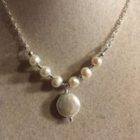 Pearl Necklace – Wedding Jewelry – June Birthstone – Sterling Silver – Freshwater Pearl Jewellery – Pendant – Chain – Bride – White | Natural genuine Gemstone jewelry. Buy handcrafted artisan wedding jewelry.  Unique handmade bridal jewelry gift ideas. #jewelry #beadedjewelry #gift #crystaljewelry #shopping #handmadejewelry #wedding #bridal #jewelry #affiliate #ad