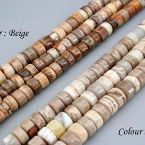 Shop Petrified Wood Necklaces! Wood Opalite/ Petrified Wood rondelle beads 7.5-10.5mm (ETB01516)  Fashion Trend/Unique jewelry/Vintage jewelry/Gemstone necklace | Natural genuine Petrified Wood necklaces. Buy crystal jewelry, handmade handcrafted artisan jewelry for women.  Unique handmade gift ideas. #jewelry #beadednecklaces #beadedjewelry #gift #shopping #handmadejewelry #fashion #style #product #necklaces #affiliate #ad