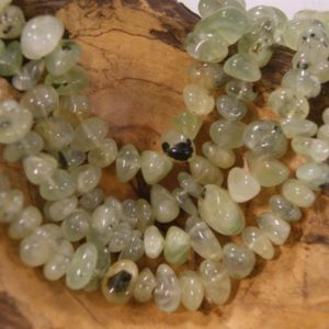 Shop Prehnite Chip & Nugget Beads! Prehnite Smooth Nugget Shaped Natural Gemstone Bead-6mm Up To 14mm~ -15.5 Inch Strand- | Natural genuine chip Prehnite beads for beading and jewelry making.  #jewelry #beads #beadedjewelry #diyjewelry #jewelrymaking #beadstore #beading #affiliate #ad
