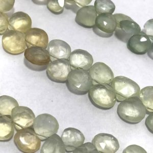 Shop Prehnite Bead Shapes! 8 – 10 mm Prehnite Shaded Gemstone Beads Strand Sale / Semi Precious Beads / Prehnite Hearts / 8 mm Prehnite Beads Wholesale / Heart Beads | Natural genuine other-shape Prehnite beads for beading and jewelry making.  #jewelry #beads #beadedjewelry #diyjewelry #jewelrymaking #beadstore #beading #affiliate #ad