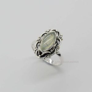 Shop Prehnite Rings! Prehnite Ring | 925 Sterling Silver Rings | Prehnite Stone | 6×12 mm Marquise Prehnite Ring | Green Prehnite Gemstone Ring | Oxidized Rings | Natural genuine Prehnite rings, simple unique handcrafted gemstone rings. #rings #jewelry #shopping #gift #handmade #fashion #style #affiliate #ad