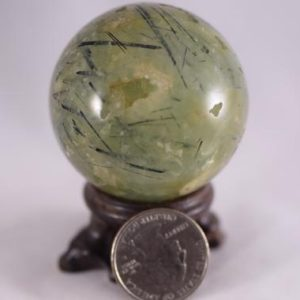 Shop Prehnite Shapes! Prehnite with Epidote and Druze Sphere | Natural genuine stones & crystals in various shapes & sizes. Buy raw cut, tumbled, or polished gemstones for making jewelry or crystal healing energy vibration raising reiki stones. #crystals #gemstones #crystalhealing #crystalsandgemstones #energyhealing #affiliate #ad