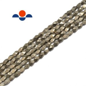 "Shop Pyrite Chip & Nugget Beads! Pyrite Faceted Irregular Nugget Beads 5x7mm 15.5"" Strand 