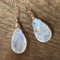 Rainbow Moonstone Pendant Necklace – June Birthday Gift For Her – Raw Moonstone Necklace – June Birthstone Necklace – Moonstone Jewelry | Natural genuine Gemstone jewelry. Buy crystal jewelry, handmade handcrafted artisan jewelry for women.  Unique handmade gift ideas. #jewelry #beadedjewelry #beadedjewelry #gift #shopping #handmadejewelry #fashion #style #product #jewelry #affiliate #ad