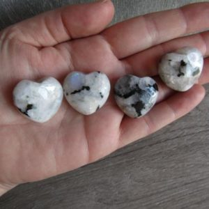 Rainbow Moonstone Heart K66 | Natural genuine stones & crystals in various shapes & sizes. Buy raw cut, tumbled, or polished gemstones for making jewelry or crystal healing energy vibration raising reiki stones. #crystals #gemstones #crystalhealing #crystalsandgemstones #energyhealing #affiliate #ad